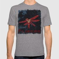 Night Flyer Mens Fitted Tee Athletic Grey SMALL