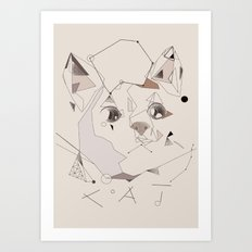 Cute Cat Art Print