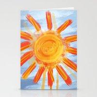 Sunshine Painting Stationery Cards