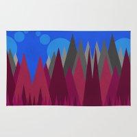 Landscape Abstract colour change Rug