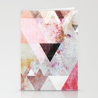 pastel Stationery Cards featuring Graphic 3 by Mareike Böhmer Graphics and Photography