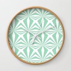 Mint Starburst #3 Wall Clock