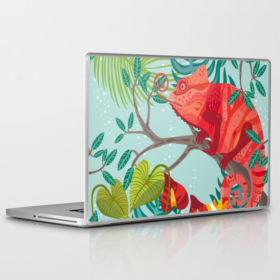 The Red Chameleon  Laptop & iPad Skin