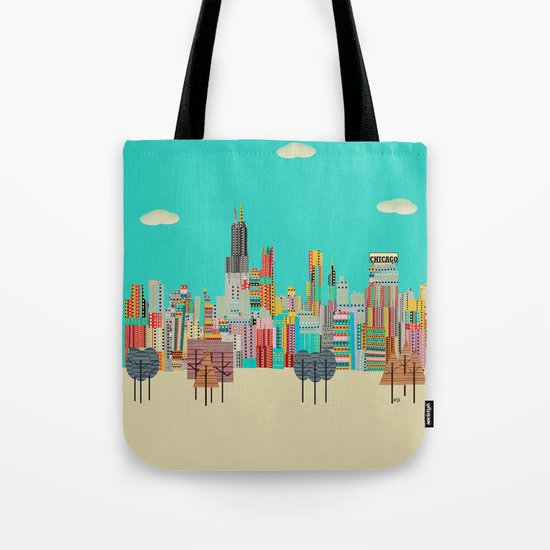 Chicago city (summer days) Tote Bag
