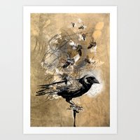 crow's soul Art Print