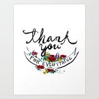 Merci Art Print