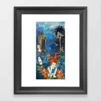 Sandman And Family Framed Art Print