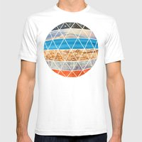 Eco Geodesic  Mens Fitted Tee White SMALL