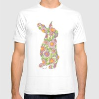 Daisy Easter Bunny Mens Fitted Tee White SMALL