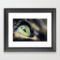 Green Iris Framed Art Print