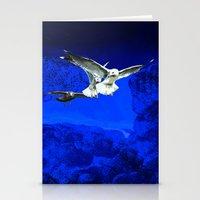 Flying birds  Stationery Cards