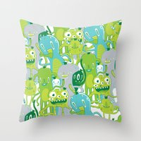Done with Monster School! Throw Pillow