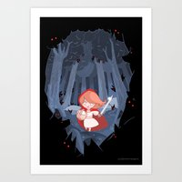 Little Red Fighting Hood Art Print