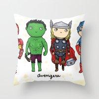 Super Cute Heroes: Aveng… Throw Pillow