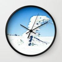 Snow Blown Wall Clock