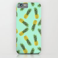 blue pineapple pattern iPhone 6 Slim Case