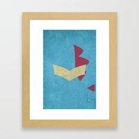 Totodile Framed Art Print