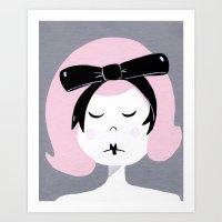 Eloise, pretty in pink Art Print