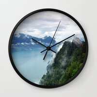 End of the Lake. Wall Clock