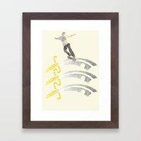 essex skateboarding  Framed Art Print
