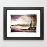 Maidens Tower Istanbul Framed Art Print