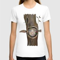 Tree Life Womens Fitted Tee White SMALL