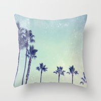 Palm prix Throw Pillow