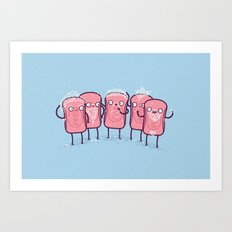 Bubble beards Art Print
