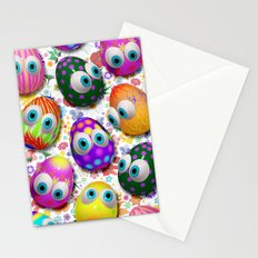 Cute Easter Eggs Cartoon 3d Pattern Stationery Cards