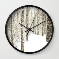 Wintry Mix Wall Clock