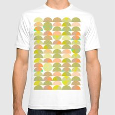 Geometric Juice SMALL Mens Fitted Tee White