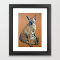 Mad Catter Framed Art Print