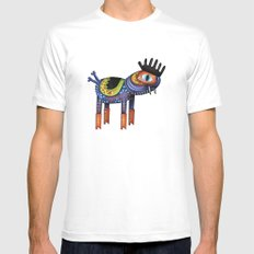 Turtle Chicken Horse SMALL White Mens Fitted Tee