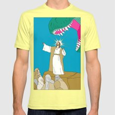 Jesus, Etc. Mens Fitted Tee Lemon SMALL