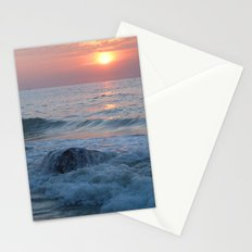 Water on the Rocks at Sunset Varkala Stationery Cards