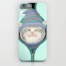 Cat in the zip iPhone 6 Slim Case