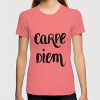Carpe Diem Womens Fitted Tee Pomegranate SMALL