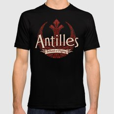 Antilles School of Flying SMALL Mens Fitted Tee Black