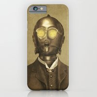 robot iPhone & iPod Cases featuring Baron Von Three PO  by Terry Fan
