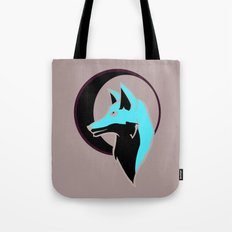 Night Fox with Moon Tote Bag