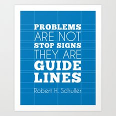Guide Lines Art Print