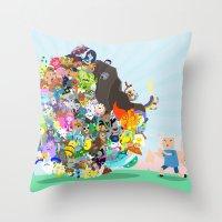 Adventure Time - Land of Ooo Katamari Throw Pillow