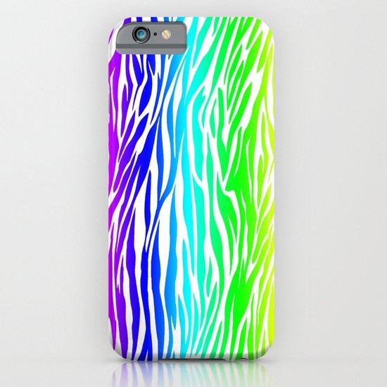 Coloured Zebra iPhone & iPod Case