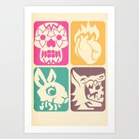 FEEDING GROUND 4 Icons Art Print