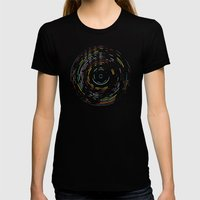 Rainbow Record Womens Fitted Tee Black SMALL