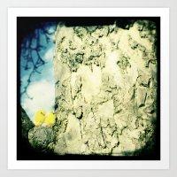 Little Yellow Chicks Art Print