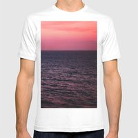 Pretty Pink Sunset Mens Fitted Tee White SMALL