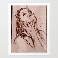 The drip Art Print