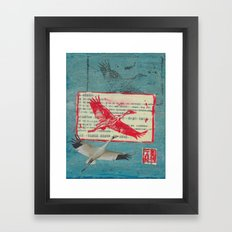 Whooping Crane Collage Framed Art Print