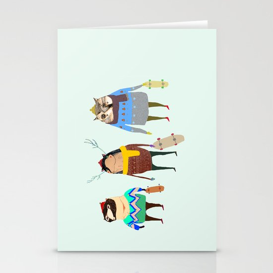 Skateboarders. Stationery Card